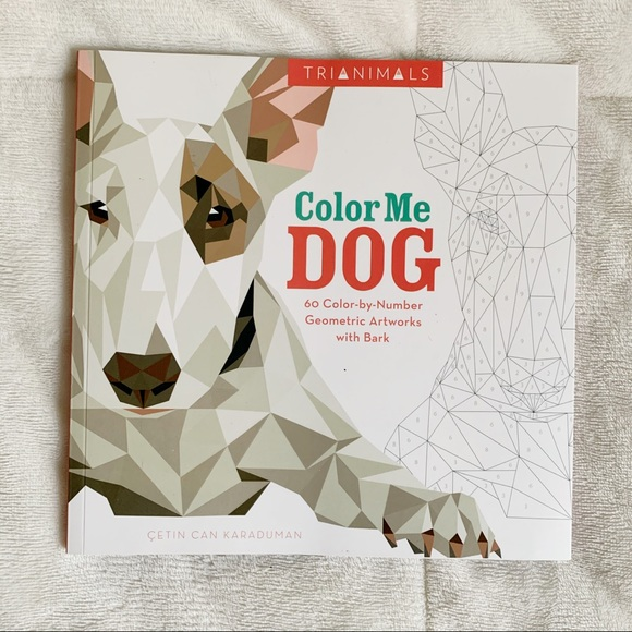 Dog Coloring Book - Color by Number